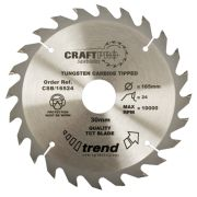 Trend CSB/18424 Craft Saw Blade 184mm x 16mm 24T