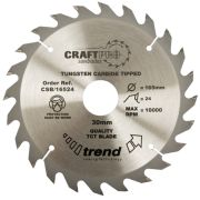 Trend CSB/18430A Craft Saw Blade 184mm x 30mm 30T