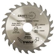 Trend CSB/19024 Craft Saw Blade 190mm x 30mm 24T