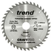 Trend CSB/19040 Craft Saw Blade 190mm x 30mm 40T