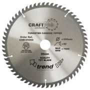 Trend CSB/19060 Craft Saw Blade 190mm x 30mm 60T