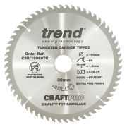 Trend CSB/19060TC Craft Saw Blade 190mm x 30mm 60T For DCS575