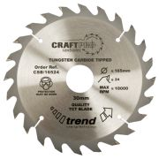 Trend CSB/21024 Craft Saw Blade 210mm x 30mm 24T
