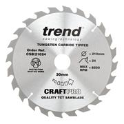 Trend CSB/21036 210mm 36 Tooth Craft Sawblade 30mm Bore