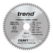 Trend CSB/21072 210mm 72 Tooth Craft Sawblade 30mm Bore