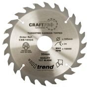 Trend CSB/23524 Craft Saw Blade 235mm x 30mm 24T