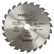 Trend CSB/25024 Craft Saw Blade 250mm x 30mm 24T