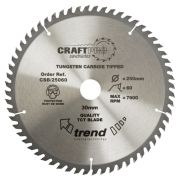 Trend CSB/25060 Craft Saw Blade 250mm x 30mm 60T
