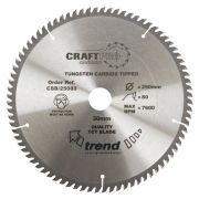Trend CSB/25080 Craft Saw Blade 250mm x 30mm 80T