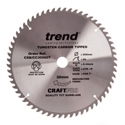 Trend CSB/CC30560T Craft Saw Blade Crosscut 305mm x 60T x 30mm To Suit Dewalt DHS780
