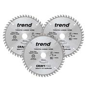 Trend CSB/PT165/3PK 165mm 48 Tooth Panel Trim Craft Saw Blade Triple Pack