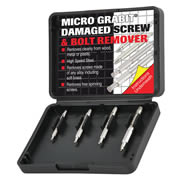 Trend GRAB/ME1/SET Trend Damaged Micro Screw/Bolt Remover 4 Piece Set