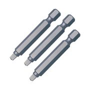 "Trend SNAP/SQ/2 Snappy Square No.2 3.2mm (1/8"") Screwdriver Bit - Pack of 3"