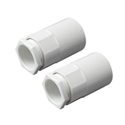 Tower Tower ISM80006 Tower Female Adaptor 20mm White Pack of 2 CP15