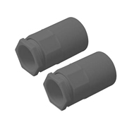 Tower Tower ISM80007 Tower Female Adaptor 20mm Black Pack of 2 CP15