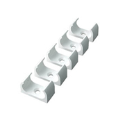 Tower Tower ISM80223 Tower Oval Clip 20mm White - Pack of 5 CP15