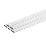Tower Tower ISM80224PK5 Tower Oval Conduit 20mm 2m White SP40 - Pack of 5