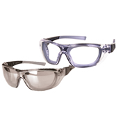 Ultex 250062 Illusion Safety Glasses Pack - Clear/Mirrored