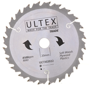 Ultex 302022 165mm 24 Tooth TCT Trade Blade