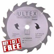 Ultex 302052 Ultex 184mm 16 Tooth TCT Trade Blade
