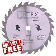 Ultex 302062 Ultex 184mm 24 Tooth TCT Trade Blade