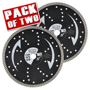 Ultex ULT30206B Ultex 115mm Multipurpose Turbo Diamond Blade Twinpack