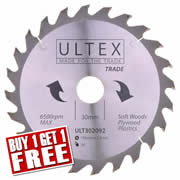 Ultex 302092 Ultex 190mm 24 Tooth TCT Trade Blade
