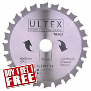 Ultex 302122 Ultex 216mm 24 Tooth TCT Trade Blade