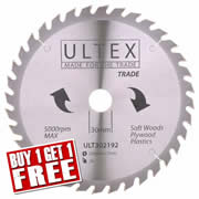 Ultex 302192 Ultex 250mm 36 Tooth TCT Trade Blade