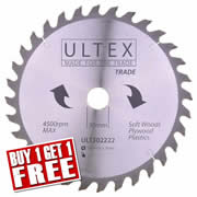 Ultex 302222 Ultex 260mm 32 Tooth TCT Trade Blade