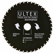 Ultex 302422 Ultex 216mm 40 Tooth TCT Multi-Purpose Blade