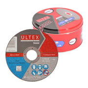 Ultex 302611 Ultex 115mm Abrasive Trade Cutting Discs and Maxilife Tin Pack of 15