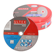 Ultex 302761 Ultex 230mm Trade Cutting Discs and Maxilife Tin Pack of 15
