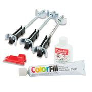 Unika CFK070-UN ColorFill & Easibolt Worktop Install & Repair Kit - White