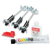 Unika CFK145-UN ColorFill & Easibolt Worktop Install & Repair Kit - Black Granite