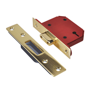 Union J2103S-PB-2.5 Union 3 Lever Union Strongbolt Deadlock 2.5'' - Polished Brass