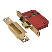 Union J2205S-PB-3.0 Union Strongbolt 5 Lever Sash Lock 3'' - Polished Brass