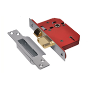 Union J2205S-SS-2.5 Union Strongbolt 5 Lever Sash Lock 2.5'' - Stainless Steel