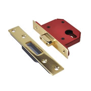 Union JL21EUS-PB-2.5 Union Strongbolt Euro Profile Dead Lock 2.5'' - Polished Brass