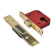 Union JL21EUS-PB-3.0 Union Strongbolt Euro Profile Dead Lock 3'' - Polished Brass