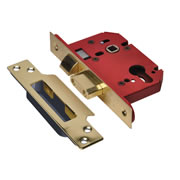 Union JL22EUS-PB-3.0 Union Strongbolt Euro Profile Sash Lock 3'' - Polished Brass