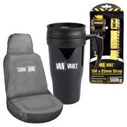 Van Vault  Van Vault 3 Item Freebie Kit - 5M Strap, Seat Cover And Travel Mug