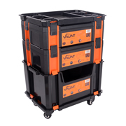 Vaunt 12069 Stackable Case Trolley Set 1