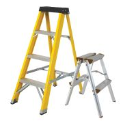 Vaunt 16034 Vaunt 4 Tread Fiberglass 1.11m Step Ladder & Step-Up Stool Pack