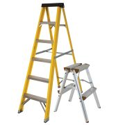Vaunt 16035 Vaunt 6 Tread Fiberglass 1.67m Step Ladder & Step-Up Stool Pack