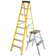 Vaunt 16036 Vaunt 8 Tread Fiberglass 2.23m Step Ladder & Step-Up Stool Pack