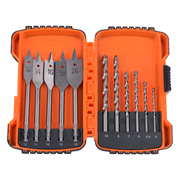 Vaunt 30055 Vaunt Wood and Masonry Bit Set - 12 Piece