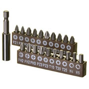 Vaunt 30061 Vaunt 21 Piece Screwdriver Bit Set with Magnetic Bit Holder