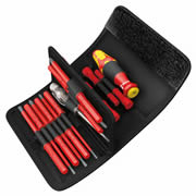 Wera 003471 Kraftform Kompakt VDE 18 Piece Interchangeable Blade Screwdriver Set