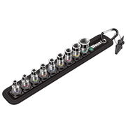 "Wera 5003880001 Zyklop Belt 1 8790 HMA HF/9 Bolt Holding 1/4"" Metric Socket 10 Piece Set"